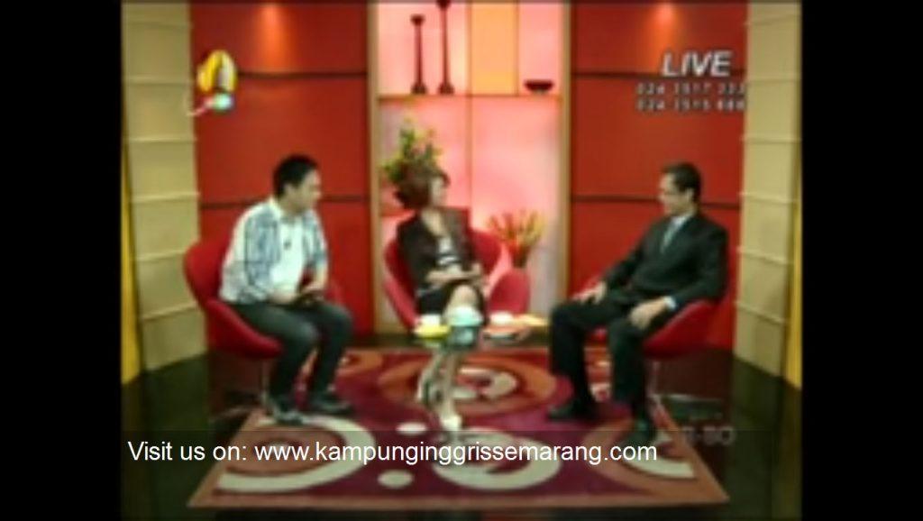 Kampung Inggris Semarang on a live TV show